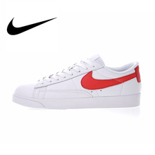 sports shoes 77e54 9c1f6 Original Authentic Nike Blazer Low Premium Thread Men's Breathable  Skateboarding Shoes Sport Outdoor Sneakers Balanced AA3961