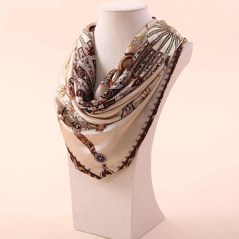 Dankeyisi女性桑シルクビーチカバーアップ大きな正方形スカーフ春秋の女性の本物のシルクスカーフプリント夏ショール