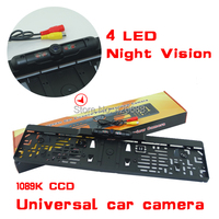 Wholesale !! New car license plate camera with IR led lights car Rear Camera Night Vision European License Plate,Free Shipping