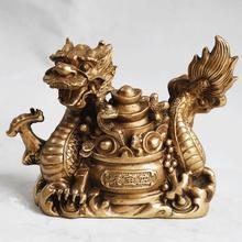 Завод Медь Фэн-Шуй ремесла Бронза медь дракон слиток главная аксессуары талисман украшения дома