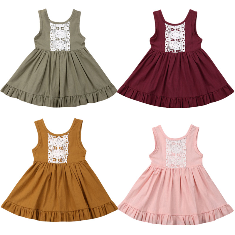 HTB1vjEEQHPpK1RjSZFFq6y5PpXab Kids Baby Girl Solid  Summer Clothes Lace Romper Backless Button Jumpsuit Outfits Baby Clothing
