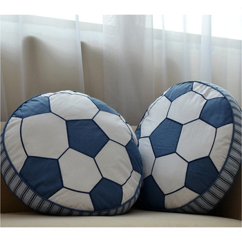 2pcs Fashion Hot Sale  Household Children pillow football Cushion Cute pillows Bed Sofa Office Cafe car Christmas Gift Cojines soccer-specific stadium