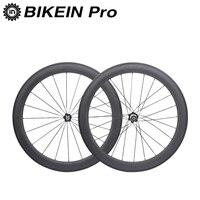 BIKEIN Ultralight 3k Carbon Road Bike Wheelsets 60mm Depth Rim 271 372SB Hub 20 24H Clincher