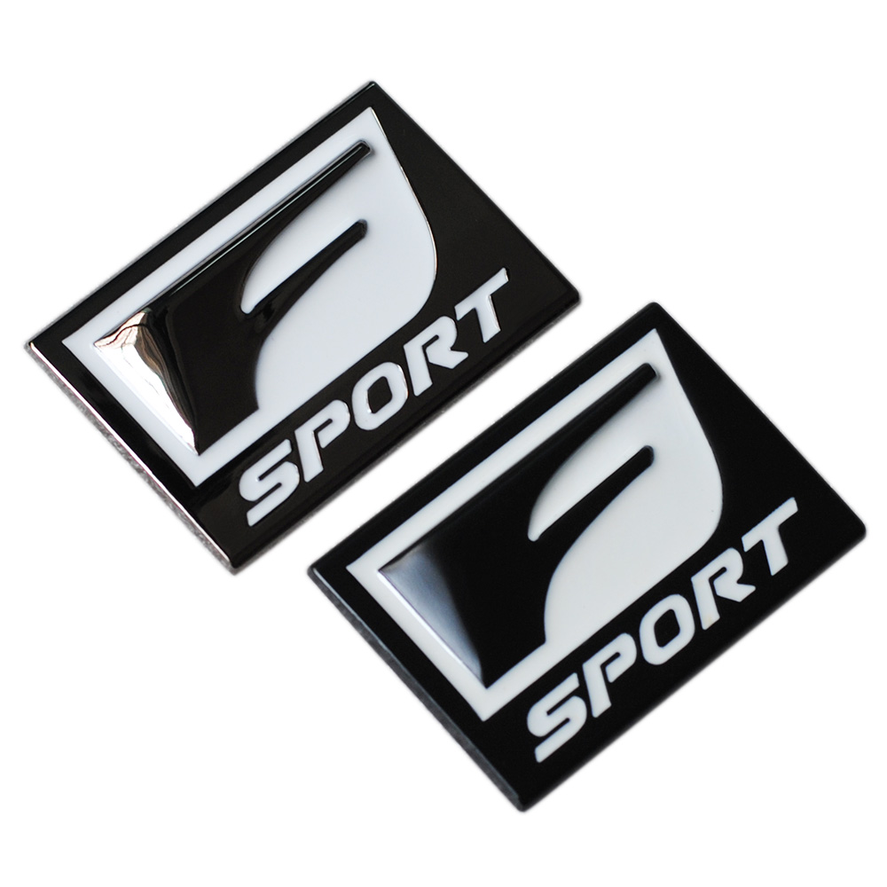 New F Sport 3D Metal Badge Decal Rear Trunk Emblem Sticker for Lexus IS ISF GS RX RX350 ES IS250 ES350 LX570 CT200 Car Styling