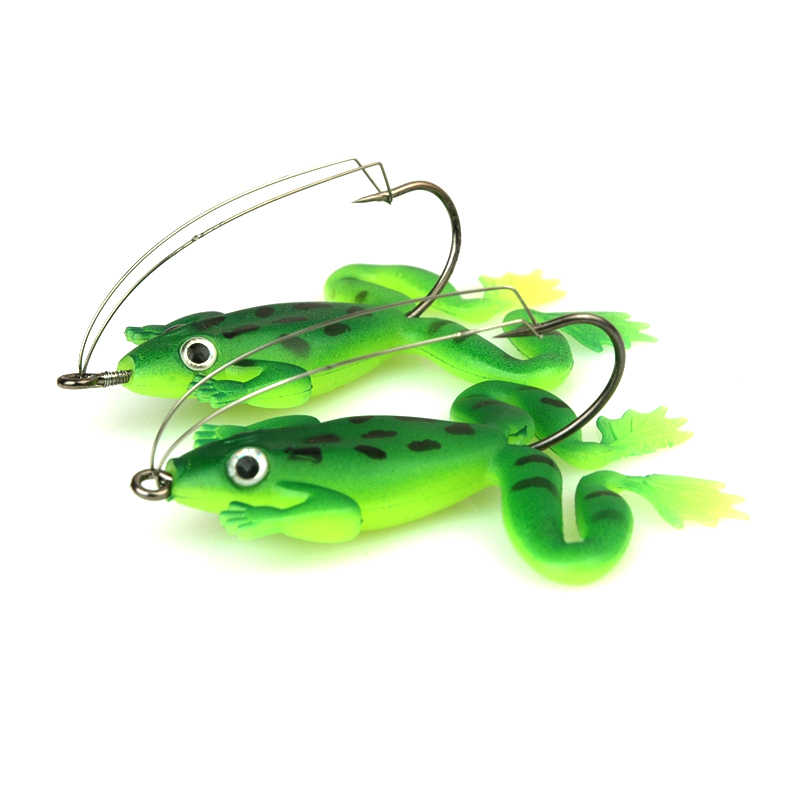4pcs/lot 6cm/5g Pesca Fishing Lures Artificial Fishing Silicone Bait Frog Lure with Hook Soft Fishing Frog Lures