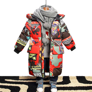 Image 3 - Winter Jacket for Boy Warm Kids Clothes Jacket Hooded Camouflage Parka for Boy Outerwear Coats Childrens Parkas