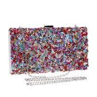 Bags For Women 2019 Fashion Small Messenger Bag For Girls Evening Envelope Handbag Party Sparkly Clutch Purse Shoulder Bag13.84