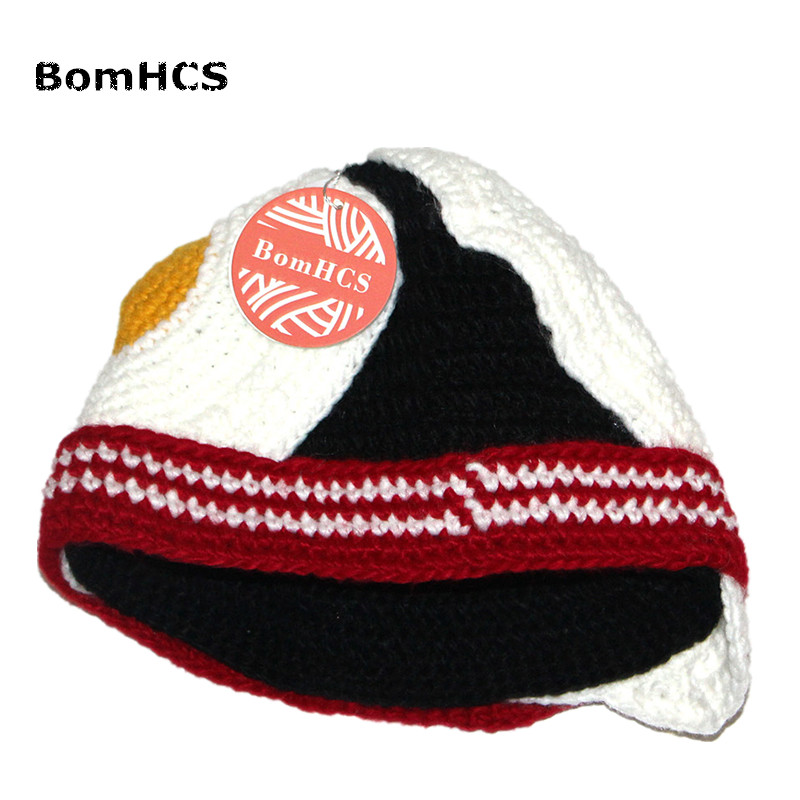 e1ac2dbe26a BomHCS Funny Poached Egg Hat Winter Handmade Knitted Beanie Halloween Gift
