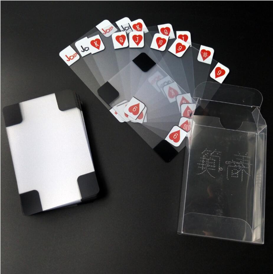 pvc-transparente-cartas-de-jogar-poquer-de-plastico-cristal-wareable-ware-resistentes-a-prova-de-agua-a-prova-d'-agua-frete-gratis