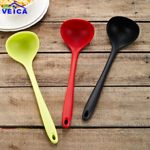 1 шт. силиконовая пшеничная соломенная суповая ложка с длинной ручкой, ложка для риса, столовая посуда, кухонные инструменты