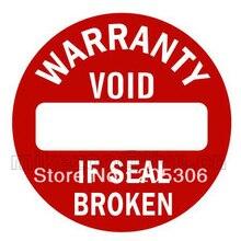 1000 шт/лот 1,2 см гарантия запечатывания этикеток наклейка пустота, если уплотнение сломано, наклейки пломбы, пункт № V15