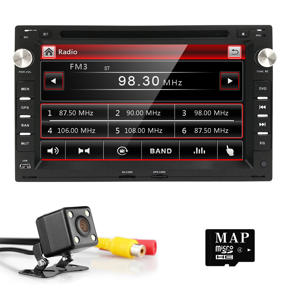 2 Din Car DVD Player GPS radio for volkswagen VW Passat B5 Jetta Bora Transporter T5 Golf 4 Ford Galaxy Seat Sat Navi BT Steel