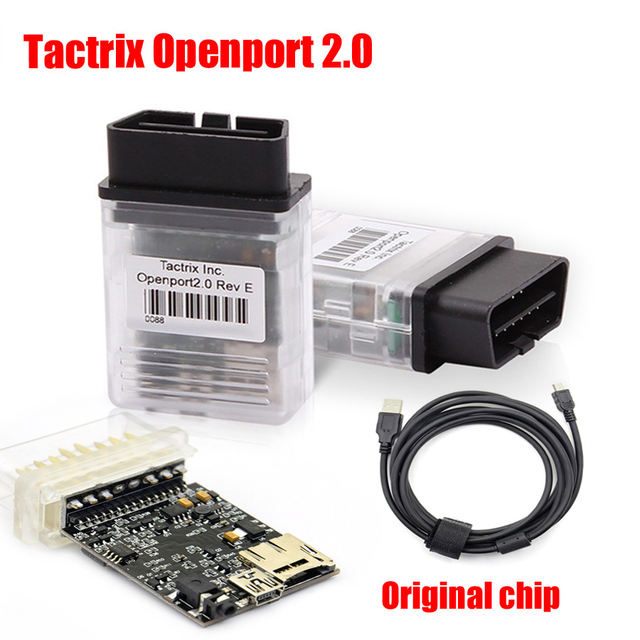 US $17 55 10% OFF|Original chip Tactrix Openport 2 0 ECU Chip Tuning Tool  With ECU FLASH Flasher Cable Open Port 2 0 For OBD CAN ISO K Line -in Code