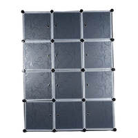 12 куб модульный шкаф DIY Собранный Шкаф с индивидуальным прозрачным двери одежды органайзер стальная рама + пластик