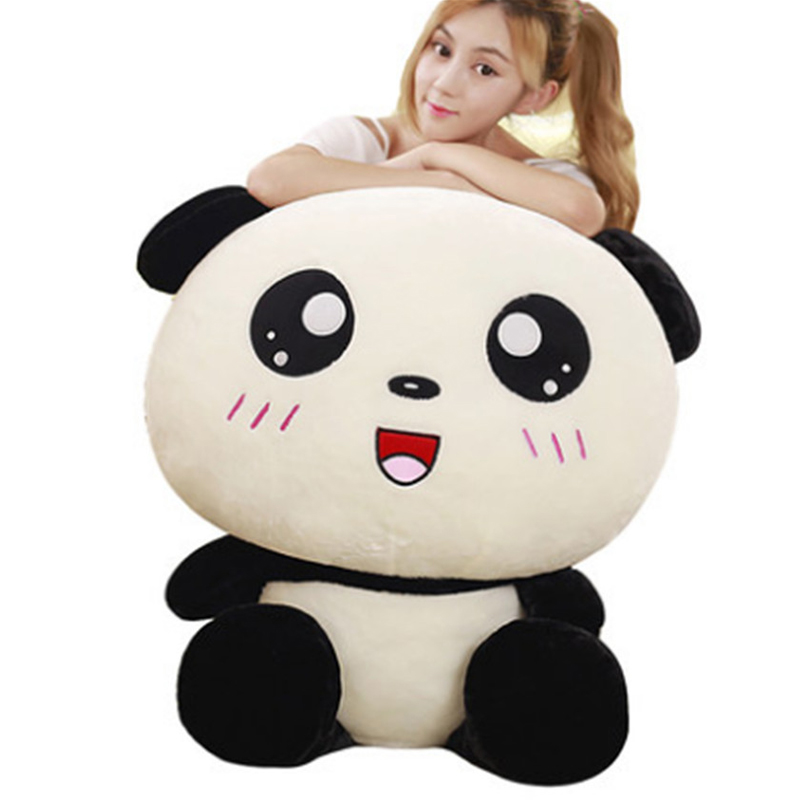 Fancytrader Pop Anime Panda Pillow Doll Stuffed Plush Animals Panda Toys 100cm 39inch Best Gifts for Children hot sale cute dolls 60cm oblong animals pillow panda stuffed nanoparticle elephant plush toys rabbit cushion birthday gift