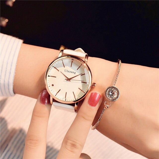 08be44fb5cf1 Minimalismo Casual mujer relojes Simple elegante cuarzo blanco reloj de pulsera  para dama de lujo negocios
