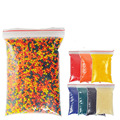 10000 PCS Colorful Crystal Bullet Soft Water Gun Paintball Bullet Bibulous Bullet Orbeez Gun Toy Nerf Accessories Most Pistol