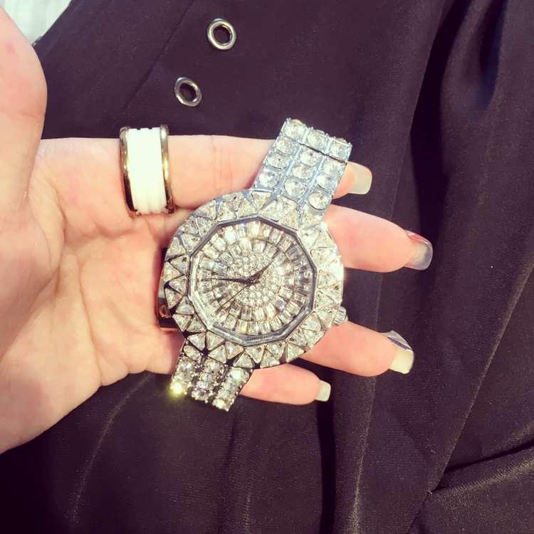 ФОТО Luxury Ladies Fashion Quartz Watch Women Rhinestone Casual Dress Wristwatch Rose Gold Crystal reloje mujer montre femme OP001