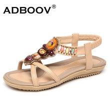 00d6be2fb21 ADBOOV Boemia Férias de Verão Das Sandálias Das Mulheres Sapatos Mulher  Sandalias Mujer 2018 Gems Frisada