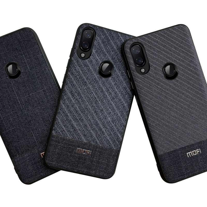 Redmi Note 7 Pro Case Mofi Business Suit Cloth For Xiaomi Redmi Note 7 Case Cover Handcraft Gentleman For Xiaomi Redmi 7 Case