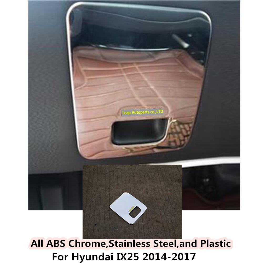 Car stick stainless steel Drive-Cab Storage box bins switch Trim frame lamp moulding 1pcs For Hyundai IX25 2014 2015 2016 2017