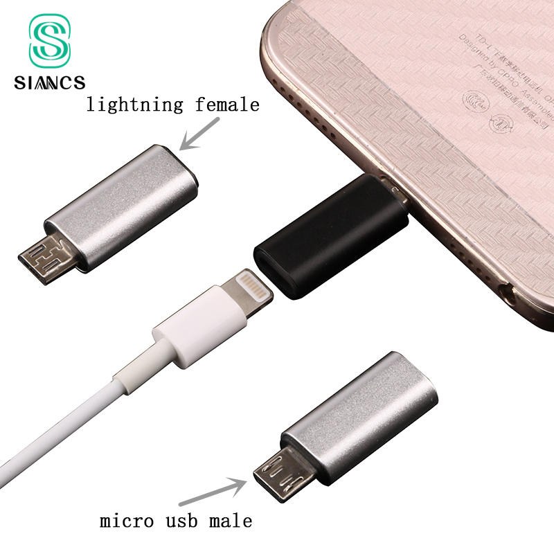 8Pin Female To Micro USB Male Adapter Android Phone Cable Fast Charging Connector For Iphone Cable To Android Phone For Samsung