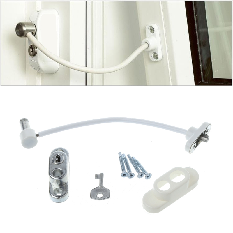 цена Window Door Restrictor Child Baby Safety Security Cable Lock Catch Wire R06 Drop Ship