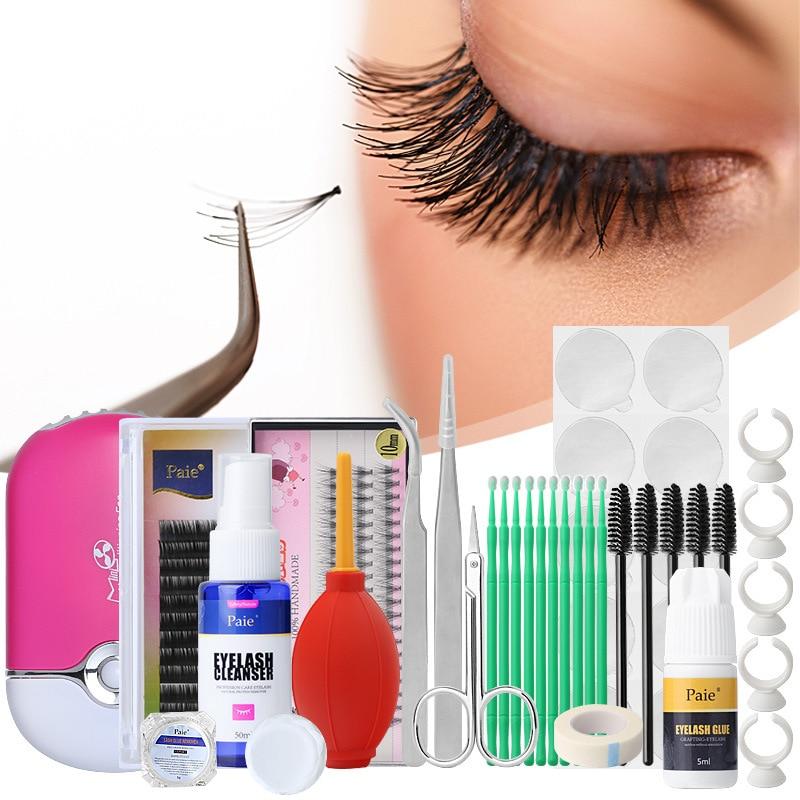 Professional Makeup Tools Kits For Beginner False Eyelash Extension Tools Set Eye Lashes Grafting Tools Kit