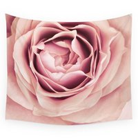 My Friend Pale Pink Rose Macro Wall Tapestry Fabric Wall Hanging Tapestry Decor Polyester Curtains Plus Long Table Cover
