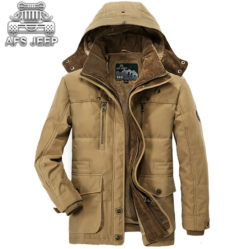 Parkas Winter jackets men New 2016 Original Brand AFS Jeep Warm Thick Military Leisure Men's Down Jacket  and Coats High Quality