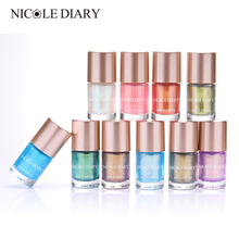 NICOLE DIARY 9ml Nail Polish Perle Mermaid Nail Art Lacquer Lakk Vannbasert Manikyr Tips Nail Polish Vernis 10 Colors