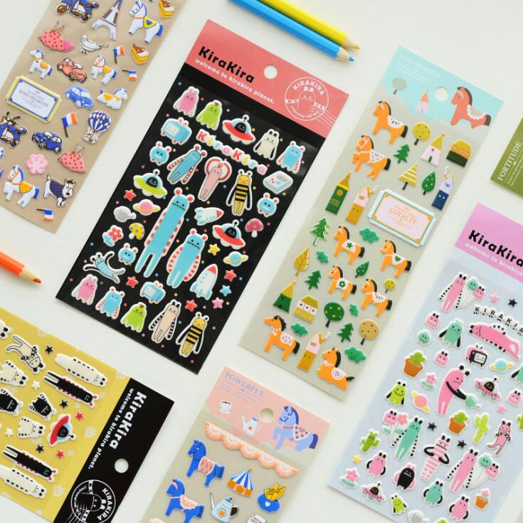 Special Star Horse Decorative Washi Stickers Scrapbooking Stick Label Diary Stationery Album Stickers