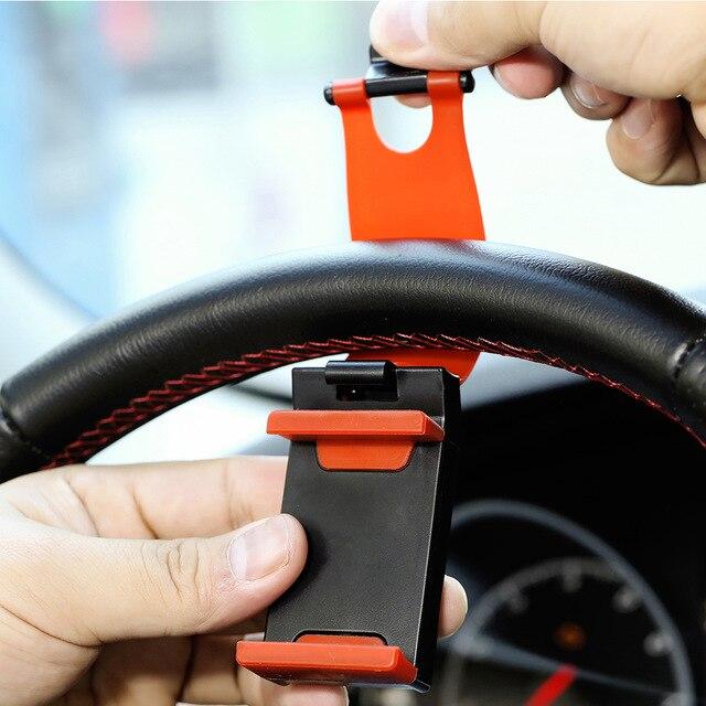 Persevering Car Phone Holder Steering Wheel Bike Clip Mount Rubber Band Stand Holder For Xiaomi Mi8 Se 6x Mi6 Mi A1 Mix 2s 2 Redmi 5s Plus