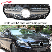 W117 GT AMG Grille Front Bumper Diamond Grills for Mercedes CLA class C117 CLA180 CLA200 CLA250 CLA45 AMG Grill 2013 2019