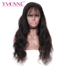 YVONNE Body Wave Full Lace Wigs Human Hair With Baby Hair Brazilian Virgin Hair Wig Natural