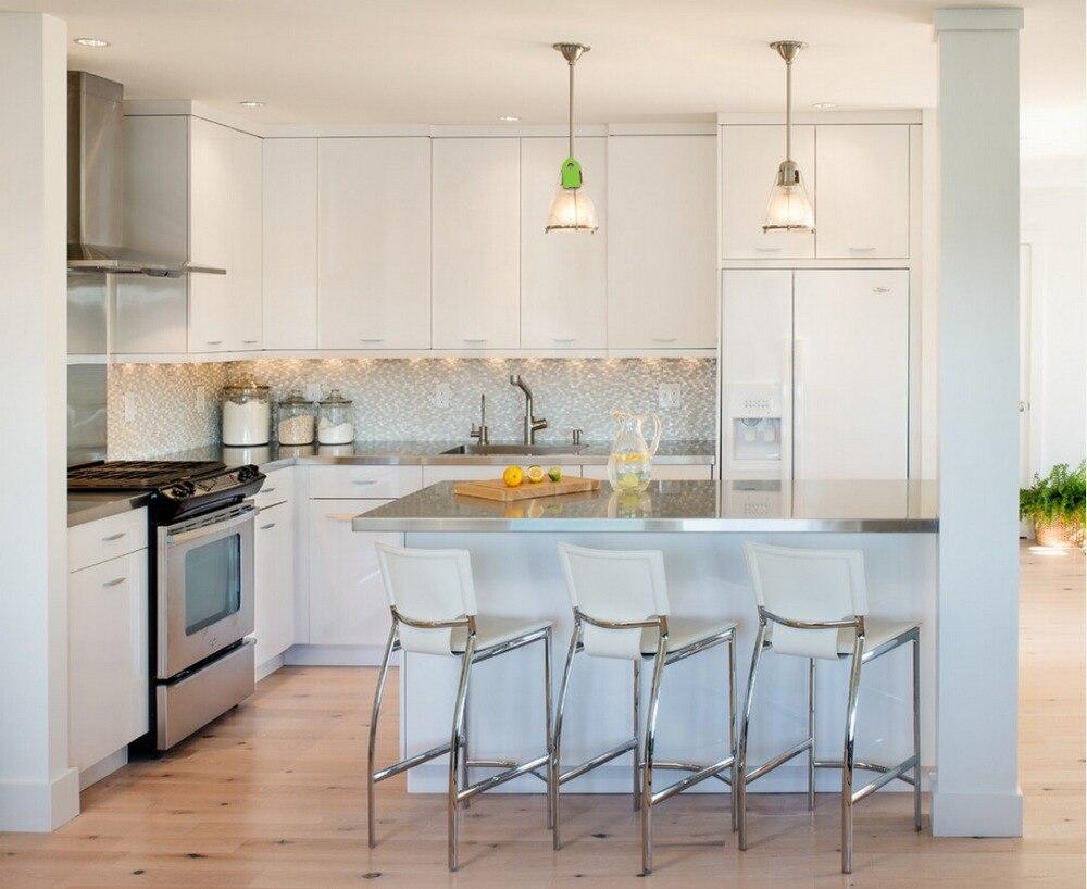 pintura de aerosol de laca armario de la cocina modular del gabinete de cocina de