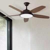 52 Inch Vintage Ceiling Fans With Light Bedroom Home Fan 220v Ceiling Fan with remote control 220V ventilador de teto