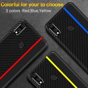 Image 3 - Funda de protección para Meizu Note 9, funda trasera de piel sintética de fibra de carbono para Meizu Note 9, carcasa para Meizu Note 9