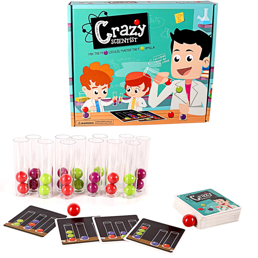 Crazy Scientist Board Game Test Tube Set Logical Thinking