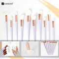 Vander 10pcs Pro Rainbow Makeup Brushes Concealer Foundation Powder Cosmetic Kits Puff Kabuki Blusher pincel maquiagem