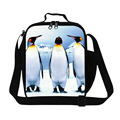 Dispalang penguin pattern insulated lunch bags for teenagers cute animal print lunch box food container for kid picnic food bag