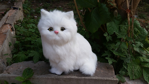 simulation animal large 24x24cm squatting cat model,lifelike cat decoration gift t471 large 24x24 cm simulation white cat model lifelike big head squatting cat model home decoration gift t186