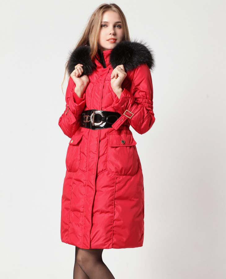 2018 winter fashion woman duck   down     coat   with a large raccoon fur collar hooded warm parka red black for male plus size xxxl 3xl