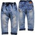6095 crianças calças de brim calças Roupas menino das Crianças calças meninas primavera & outono luz azul muito agradável moda casual nova