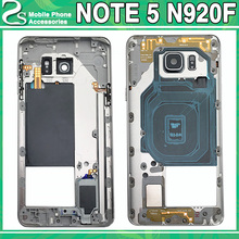 Original New Note5 Middle Frame For Samsung Galaxy Note 5 N920 Mid Bezel Metal Housing Chassis Cover Replacement Part