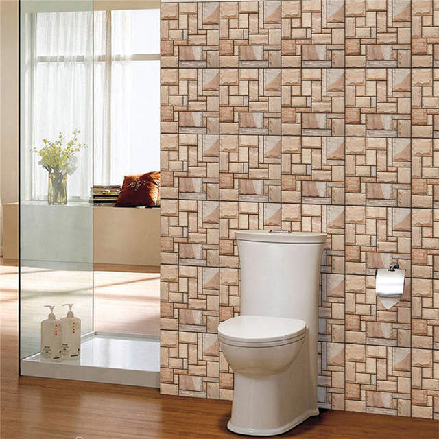 Diy Self Adhensive 3d Brick Wall Sticker Ceramic Tile Stickers Home Decor Waterproof Wall Covering Wallpaper For Tv Background