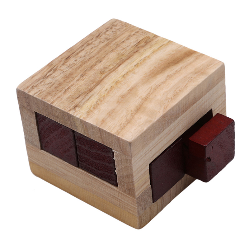 Wooden Kongming Lock Brain Teaser Puzzle Children Adults Educational Game Toy Bu