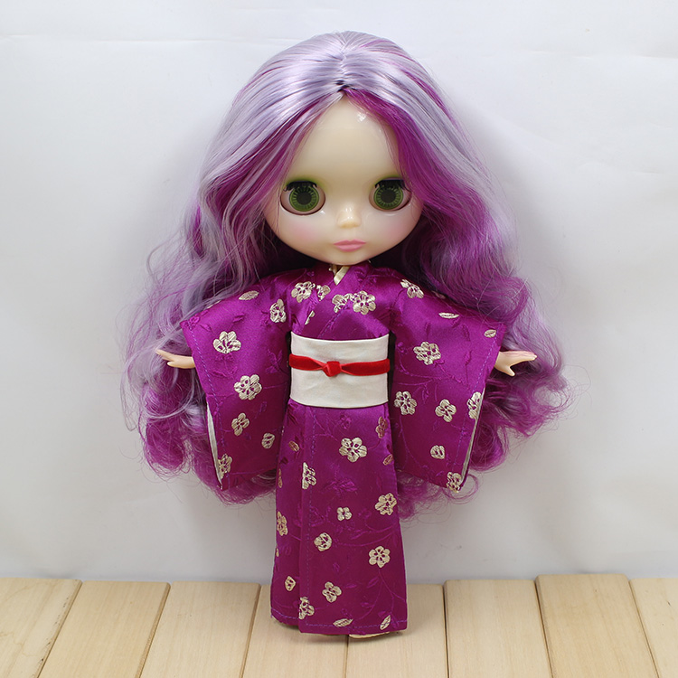 ФОТО Nude blyth doll with 19 joint body cute purple long hair dolls gifts girls baby doll