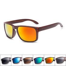 0ef2748cbe Gafas de sol de grano de madera para hombre, gafas Vintage, remaches, gafas  de recubrimiento, montura marrón y negra, gafas de s.