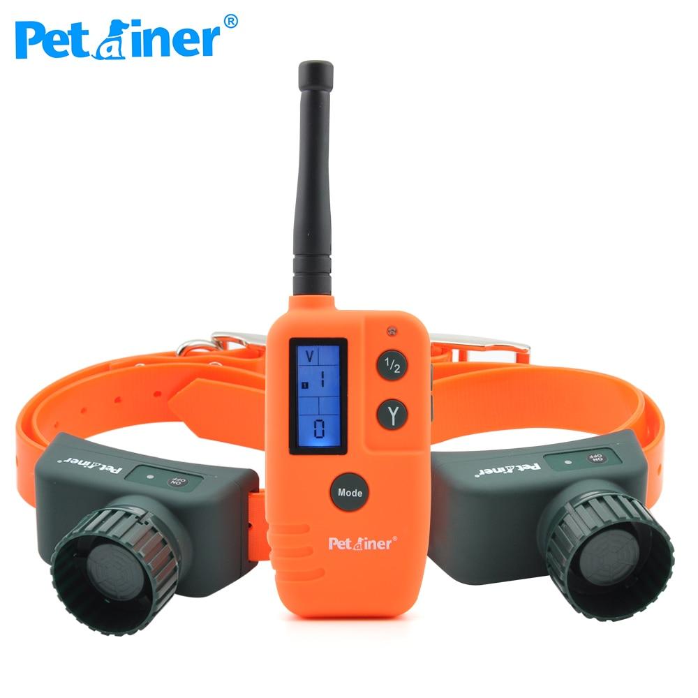 Perainer PET910B 2 500M Rango y impermeable perro Beeper Collar perro Collar de entrenamiento electrónico para la caza-in Collares de adiestramiento from Hogar y Mascotas    1